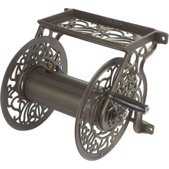 Liberty Garden Aluminum Wall Mounted Hose Reel by Generic
