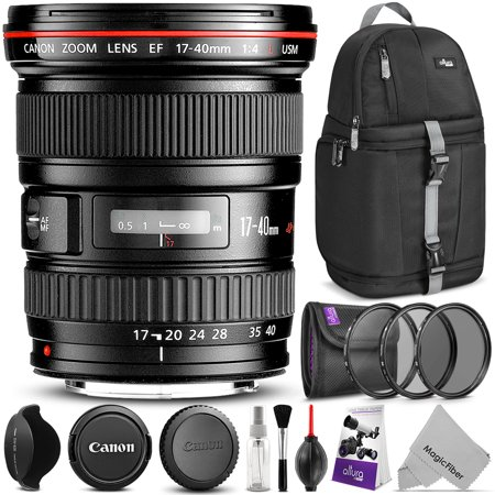 Canon EF 17-40mm F/4L USM Ultra Wide Angle Zoom Lens w/ Essential Bundle - Includes: Camera Sling Backpack, Lens Hood, Altura Photo UV-CPL-ND4, Camera Cleaning