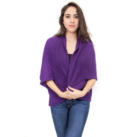Zodaca Elegant Poncho Capes Shawl Cardigans Sweater Jacket Coat](Purple Poncho)