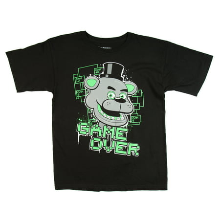 Five Nights at Freddy's Boys' Glow in the Dark Game Over Black Cotton - Boys Over Flowers Usa