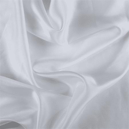 White Silk Habotai, Fabric By the (Silk Feel Fabric)