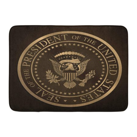 KDAGR Highly Detailed Gold Embossed Monochromatic The Official Seal of President United States Editorial Doormat Floor Rug Bath Mat 23.6x15.7