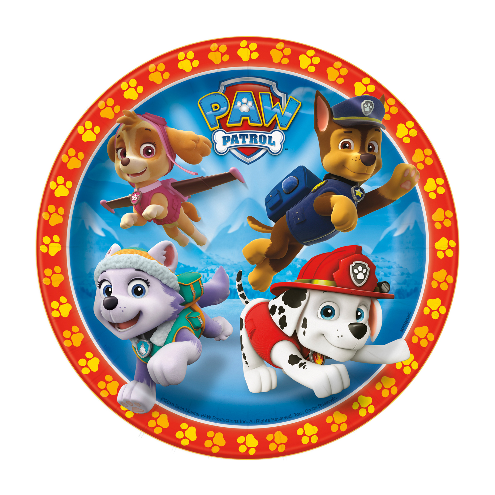 Paw Patrol Party Supplies 24 Pack Dessert Plates