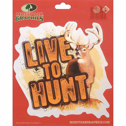 Mossy Oak Graphics Live to Hunt Whitetail Decal