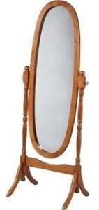 Legacy Decor Swivel Full Length Wood Cheval Floor Mirror, Oak Finish by