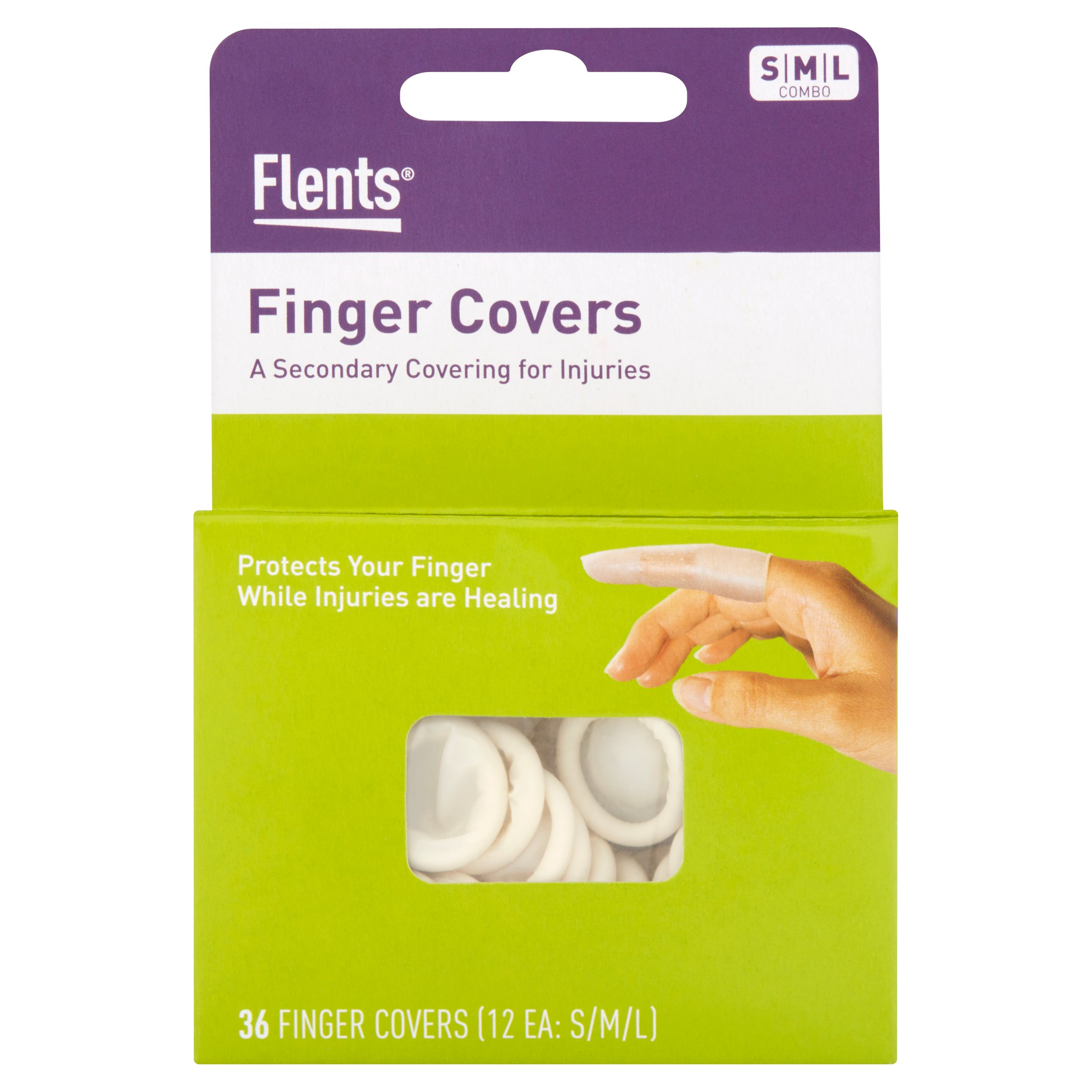 Flents SML Combo Finger Covers, 36 count