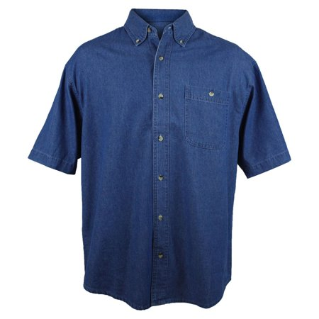 Tri-Mountain Men's Big And Tall Stonewashed Denim Shirt ()