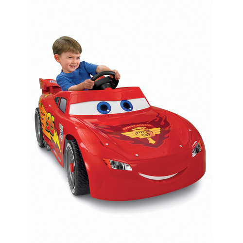 Fisher-Price Power Wheels Lightning McQueen 6-Volt Battery-Powered Ride-On (Ages 2-6)