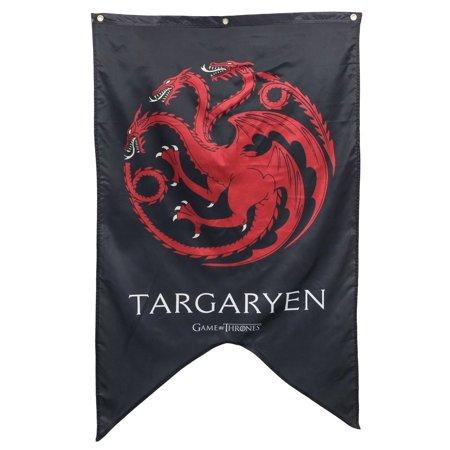 Game of Thrones Targaryen Family Banner-Small GoT Logo, 30 in X 50