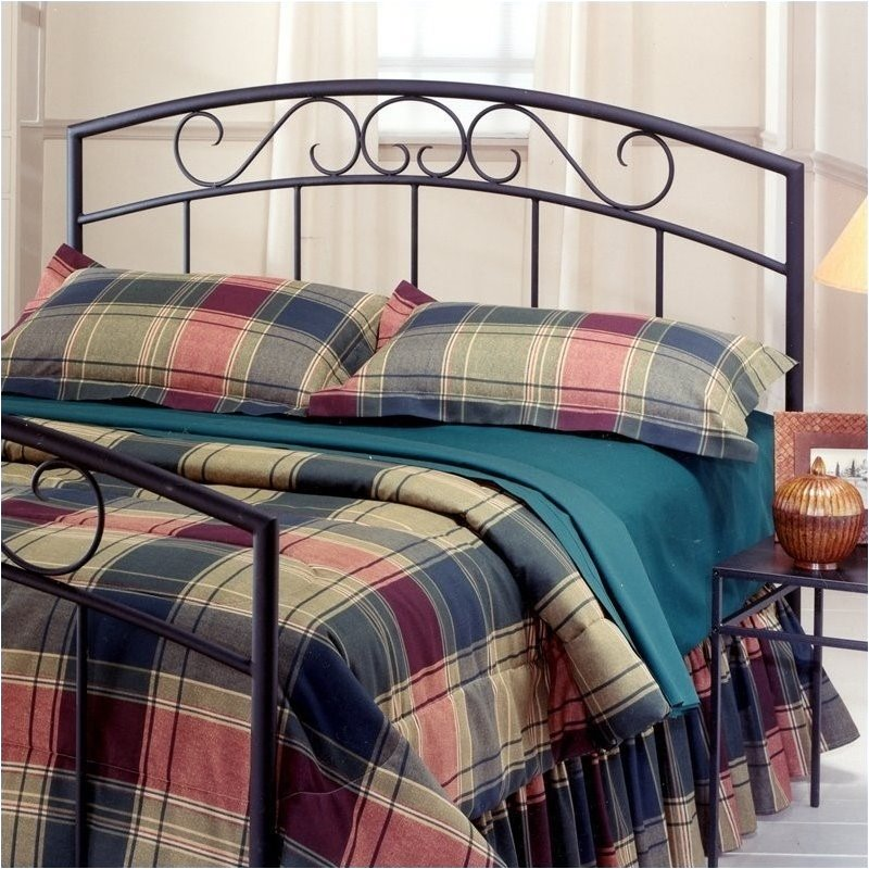 Hawthorne Collections Twin Metal Spindle Headboard in Black