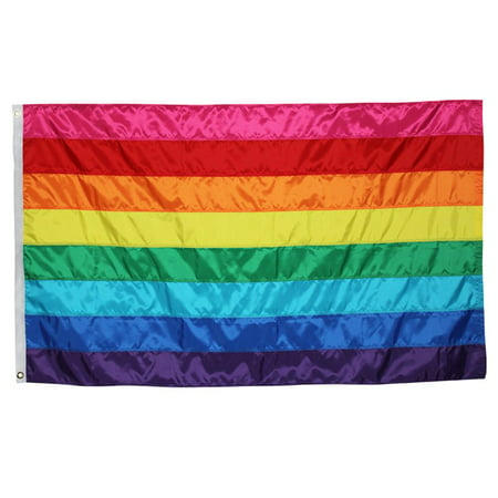 In the Breeze Historic Pride Flag - Rainbow Grommet Flag with Sewn Stripes - 3 x 5 Feet (Rainbow Flags)