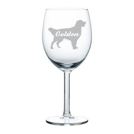 Wine Glass Goblet Golden Retriever