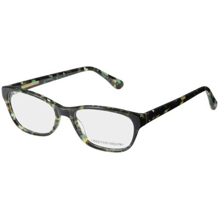 Christian Siriano Eyeglass Frames, Karly--Dark Green Tortoise ...