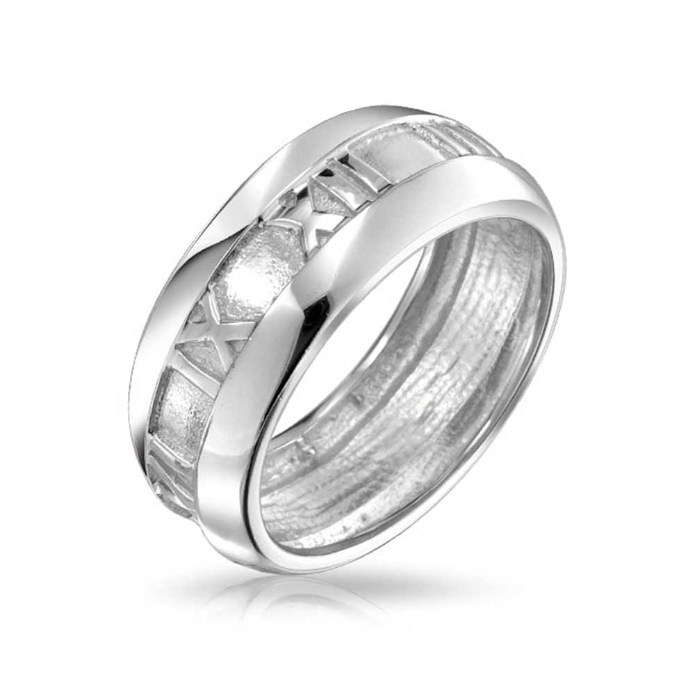 bling jewelry sterling silver numeral band ring