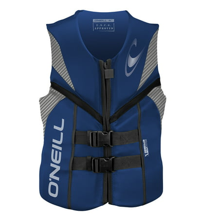 Uscg Life Jackets - O'NEILL MEN'S REACTOR USCG LIFE VEST, Pacific/Lunar/Black, Size Medium