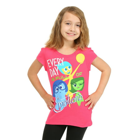 Girls' Short Sleeve Every Day Is Full Of Emotions Tee Shirt - 5