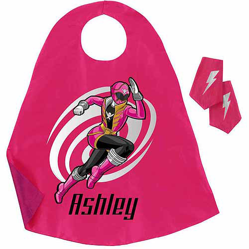Personalized Power Rangers Pink Ranger Pink Super Cape and Cuffs Set