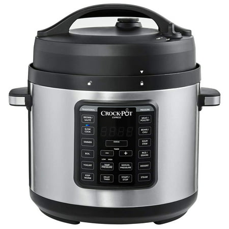 Crock-Pot Multi Function 6 Qt Capacity Express Home Food Cooker, Stainless Steel