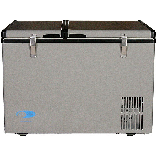 mini fridge with glass front