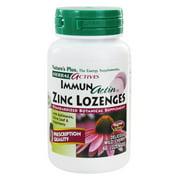 Natures Plus - Herbal Actives ImmunActin Zinc Lozenges - 60 Lozenges
