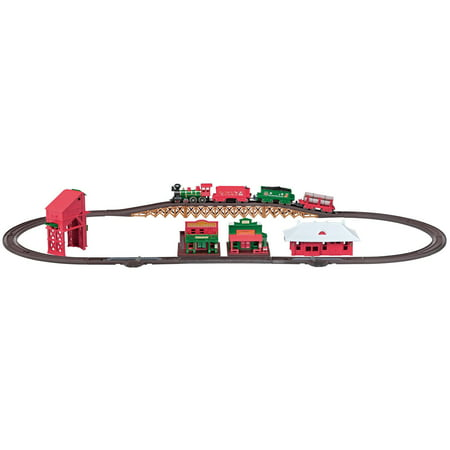 Lec Norman Rockwell Christmas Steam Locomotive American 4 4 0 Battery Operated Train Set