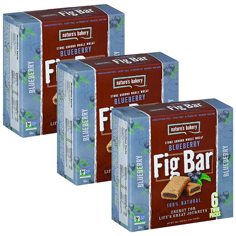 Nature's Bakery Fig Bar, Blueberry, 6 Ct