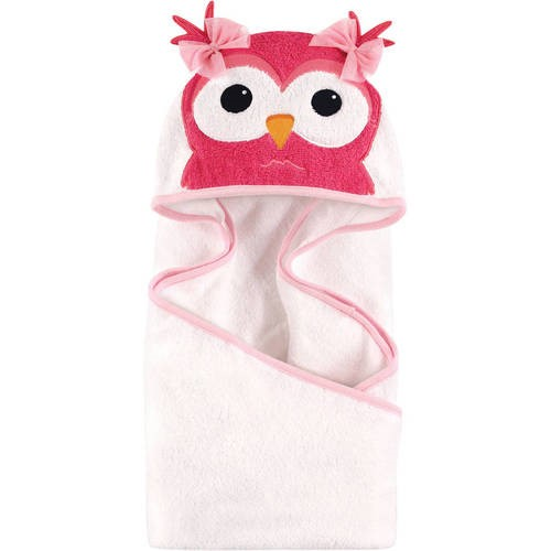 Hudson Baby Woven Terry Animal Hooded Towel, Cutesy Owl