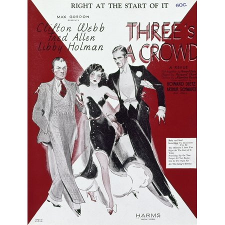 ThreeS A Crowd 1930 Namerican Sheet Music For The Song Right At The Start  Of It From The Show ThreeS A Crowd 1930 Starring Libby Holman Clifton Webb