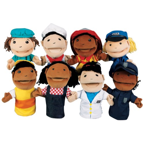 Occupation Puppets (Set of 8) by Kaplan Early Learning Company