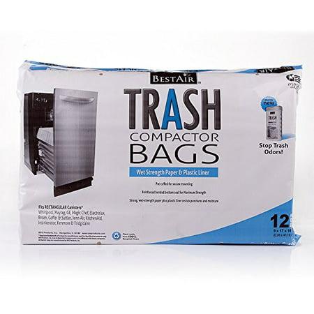 BestAir Trash Compactor Bags(16'' D. x 9'' W. x 17'' H,pack of (Best Trash Compactor 2019)