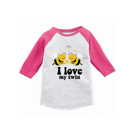 Baseball Gifts For Boys (Awkward Styles Twin Toddler Raglan Twins Themed Party Shirt Cute Bee Twins T shirts Twins Jersey Shirts for Girls Twins Jersey Shirts for Boys Funny Twins Gifts Bees Baseball T)