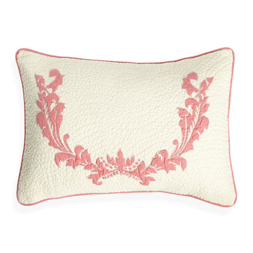 Amity Home Damask Cotton Lumbar Pillow