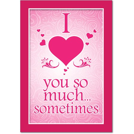 J2147VDG Jumbo Hilarious Valentine's Day Greeting Card: 'J2147VDG Funny Valentine's: Love You So Much - With Envelope (...' with Envelope (Extra Large Size: 8.5