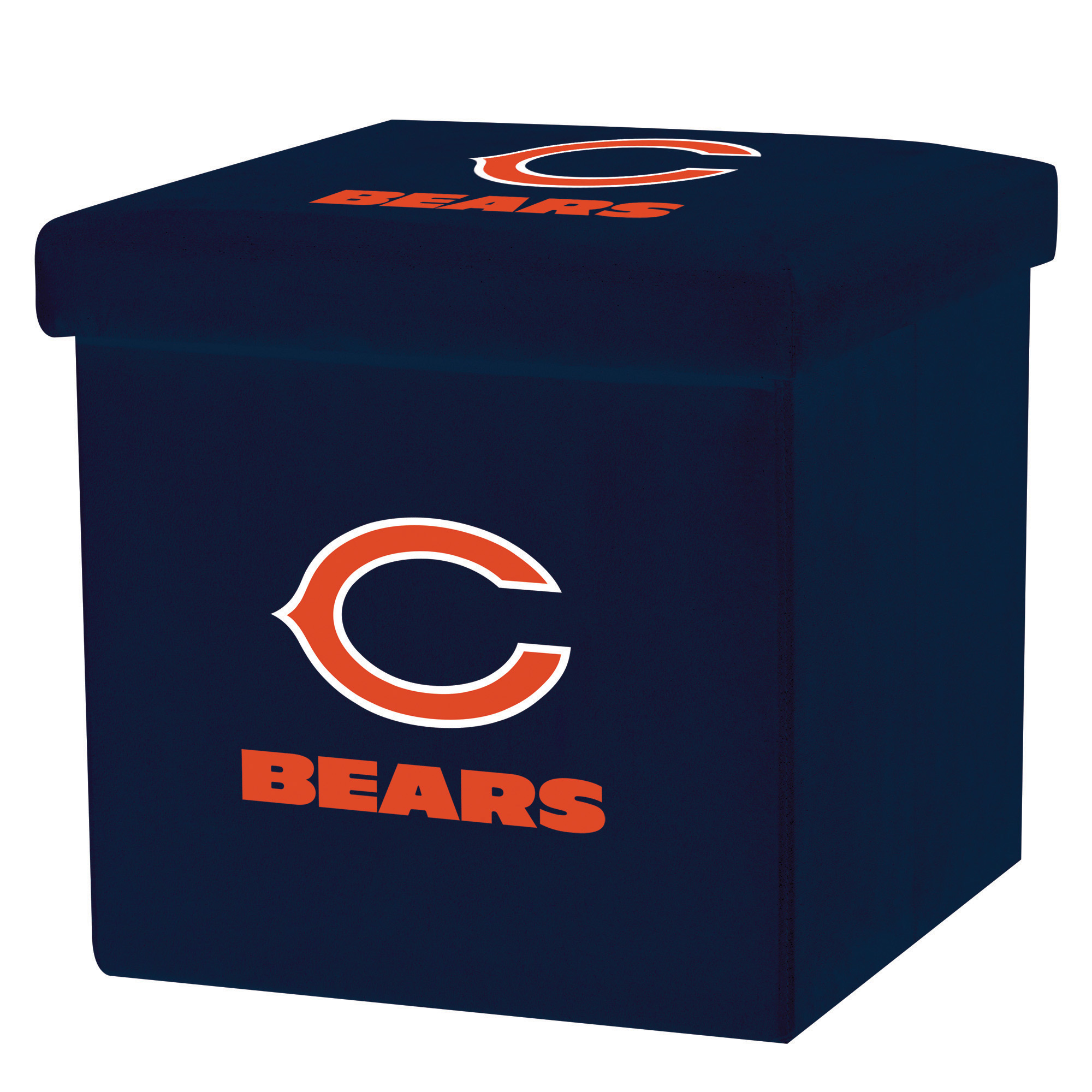 Franklin Sports NFL Chicago Bears Storage Ottoman with Detachable Lid