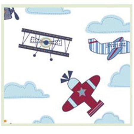 linen depot direct tn002a8002105_planes take-a-nap children's sleep mat 21 x 50, blue (Nap Mat Planes)