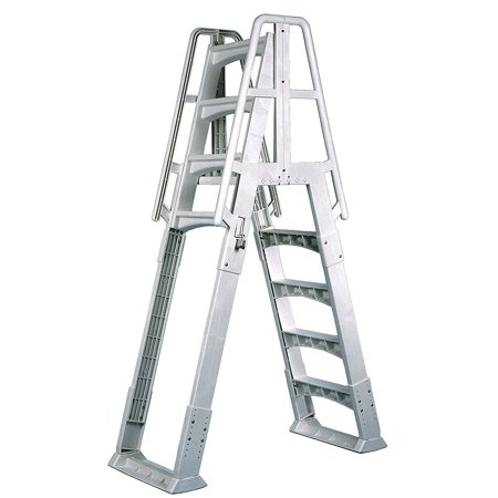 Vinyl Works A Frame Ladder with Barrier for Swimming Pools 48 to 56