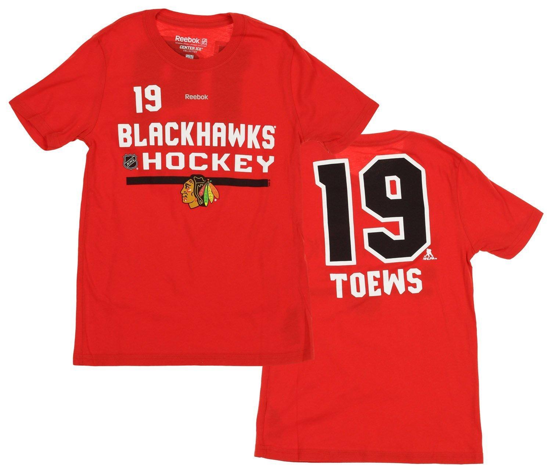 Reebok NHL Youth Kids Chicago Blackhawks Jonathan Toews  19 Player Tee -  Walmart.com 28667a057