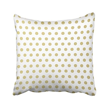 Cushion Polka - WinHome Decorative Gold Polka Dots Pattern Pillows Personalized Throw Pillow Case Decor Cushion Covers Size 18x18 inches Two Side
