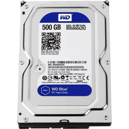 WD Blue 500 GB 3.5-inch SATA 6 Gb/s 5400 RPM 64 MB Cache PC Hard Drive - SATA - 5400 - 64 MB Buffer