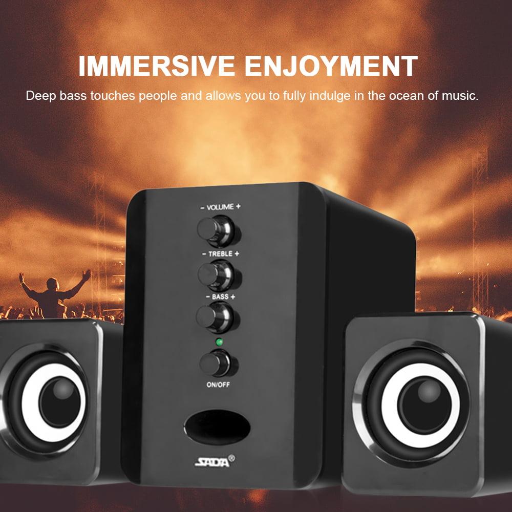 SADA Wired Bookshelf Stereo Speaker and Subwoofer Speaker Combination System BP