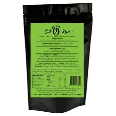 Cocktail Mix Skinny Cal-O-Rita (TM) Margarita Zero Calorie & Carb All Natural Powder, 44... by