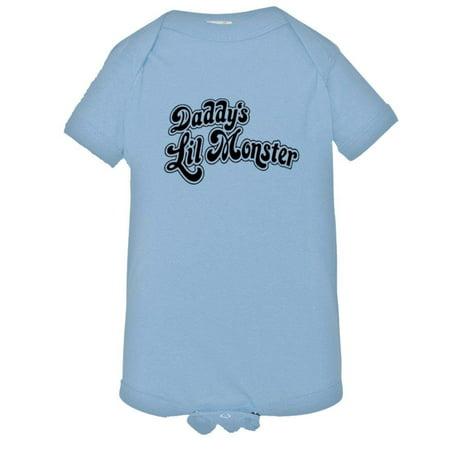 PleaseMeTees™ Baby Harley Quinn Daddys Little LIL Monster Suicide Onsie