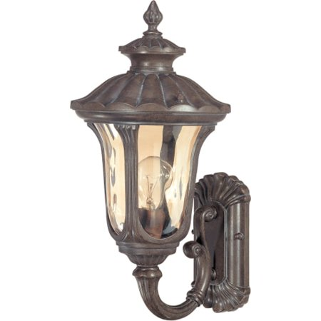 Nuvo Beaumont 60/2005 1-Light Small Wall Lantern - 9W in. - Fruitwood