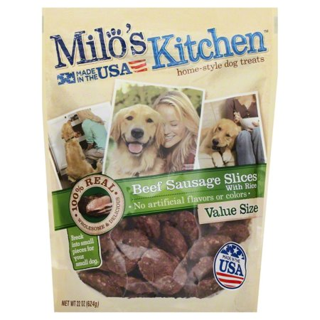 Milo\'S Kitchen Beef Sausage Slices With Rice 22