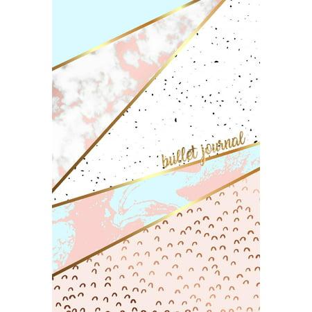 Bullet Journal: Marble + Gold Designer Bullet Journal Dot Grid Journal
