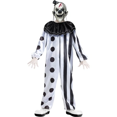 Fun World Killer Clown Boys' Halloween Costume](Scary Female Clown Costume)