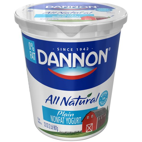 Dannon Plain All Natural Nonfat Yogurt, 32 oz