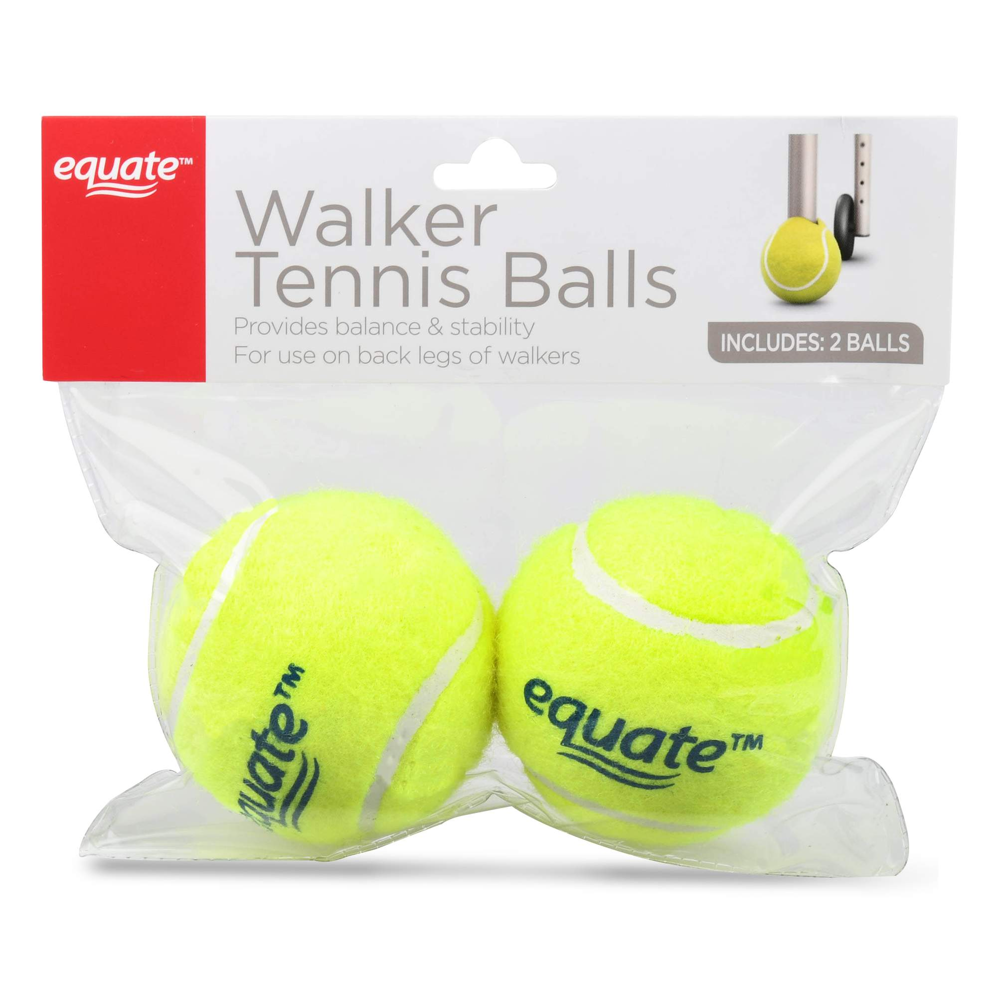 Equate Walker Tennis Balls, 2 Ct by Wal-Mart Stores, Inc.