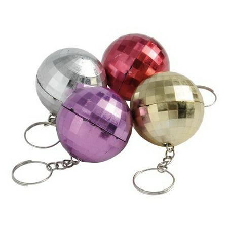 (Price/Dozen) KC152 Disco Ball Key - Disco Ball Key Chain