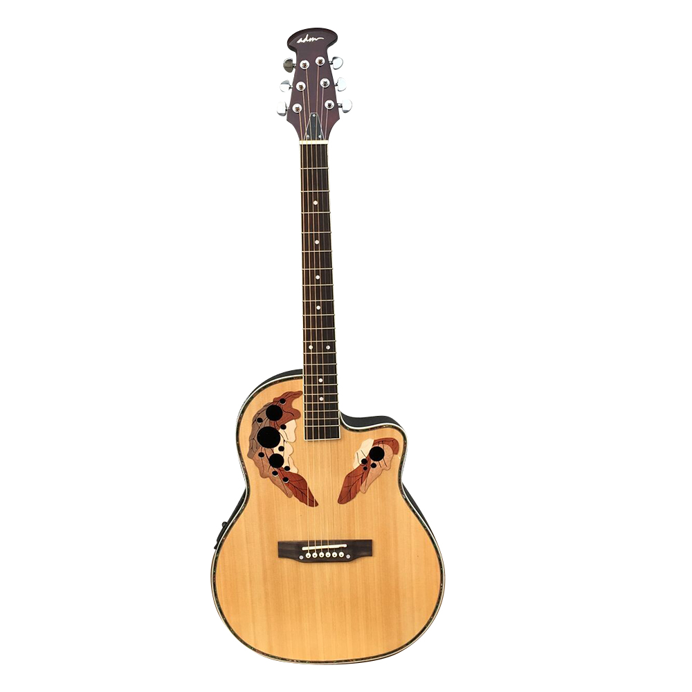ADM Full Size Acoustic Electric Cutaway Guitar, Round Back Mutil Hole with 4-Band EQ,... by All Days Music